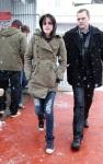 Kristen Stewart walking around at Sundance Film Festival