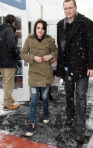 Kristen Stewart walking around at Sundance Film Festival
